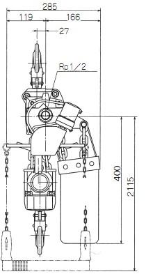 EHL-2TW尺寸示图2
